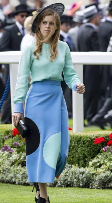 La jupe Emilia Wickstead de Béatrice Photo Getty Images
