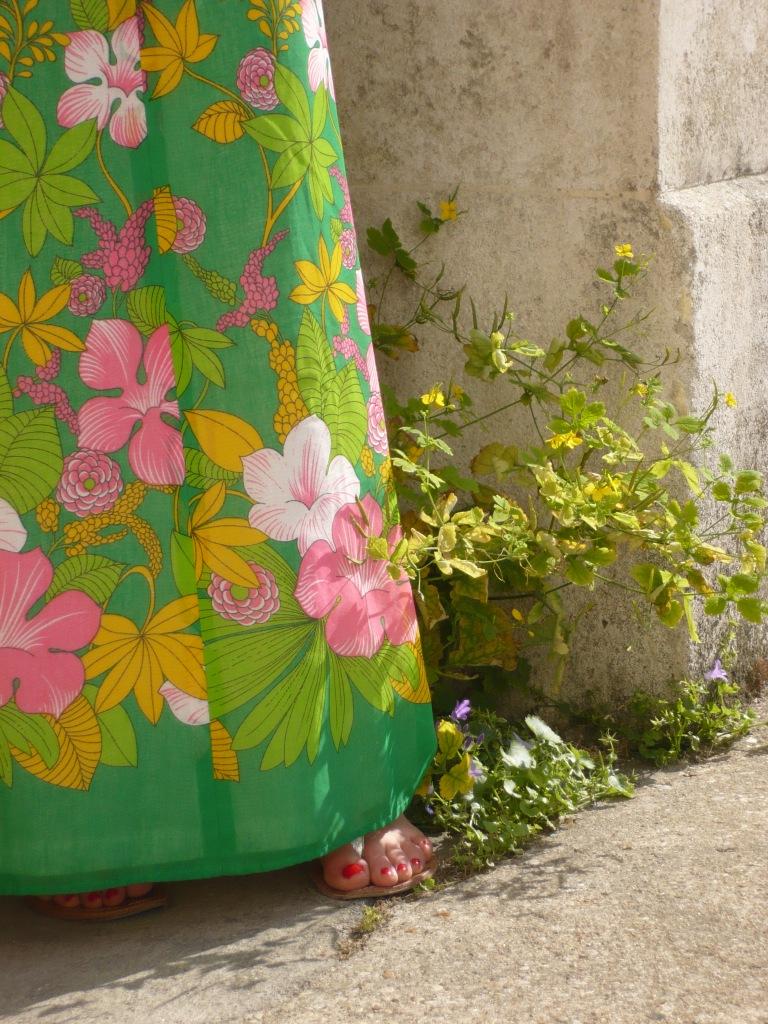 robe-maxi-fleurs-vintage