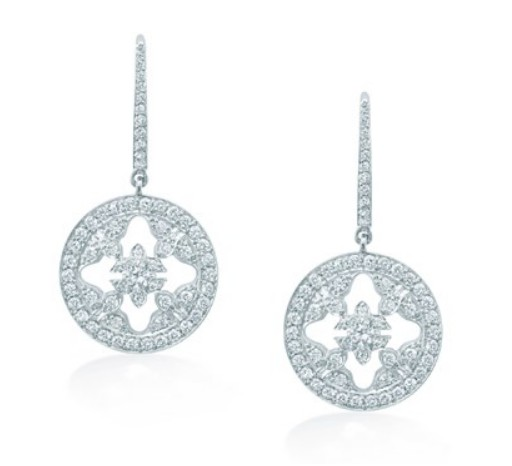 Mappin & Webb white gold and diamonds drop earrings