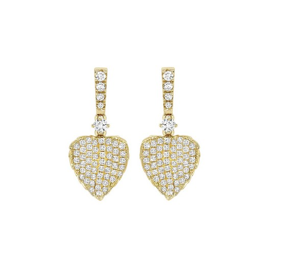Kiki McDonough Lauren Yellow Gold Pave Diamond Leaf Earrings £2,200.00