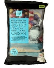Anglesey Sea Salt Crisps M&S