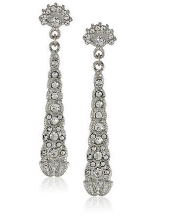 Downton Abbey Boucles d'oreilles Métal Cristal 17684 30€ 90 chez Amazon