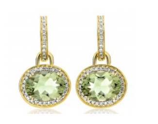 Kiki McDonough Diamond and green Amethyst