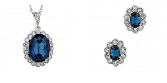 Princess Diana pendant and earrings £29.99/£14.99