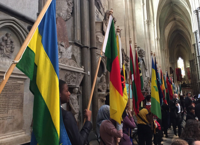 Haie de drapeaux
