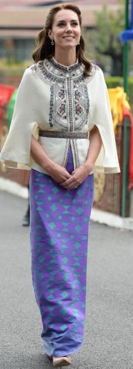 Jupe tissée au Bhoutan