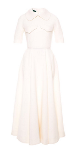 Emilia Wickstead midi wool crepe dress