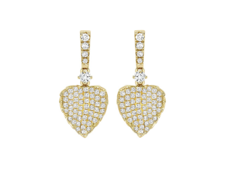 Kiki McDonough Gold Pave Diamond Earrings