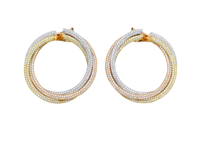 Cartier boucles d'oreilles diamants Trinity