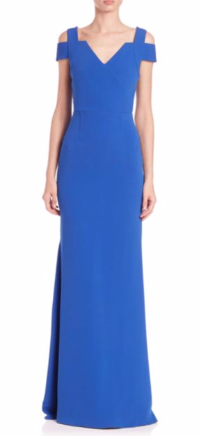 Roland Mouret Nansen cold-shoulder gown $2226.00
