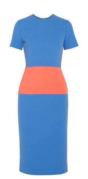 Roksanda Illincic Marwood color-block crepe-dress