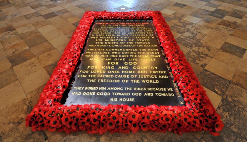 Westminster abbaye tombe du soldat inconnu