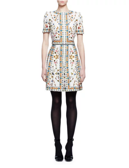 Alexander McQueen Obsession silk dress