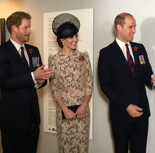 Les Royals ont visité le musée de Thiepval avant de se rendre à la cérémonie