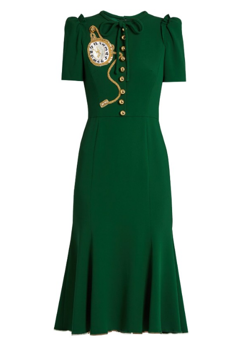 Dolce & Gabbana midi crepe dress
