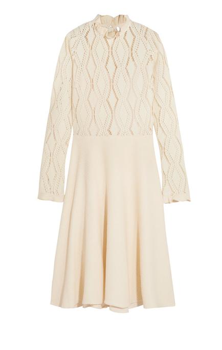 See by Chloé robe de coton mélangé en maille pointelle