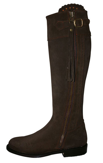 "Really Wild ""Seville"" chocolate suede boots"