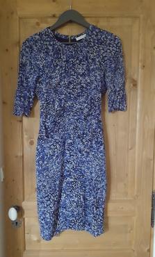Robe soie Bella blue Whistles taille UK10 neuve 180€