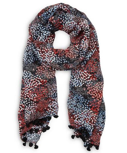 Sammi blue silk scarf LKB