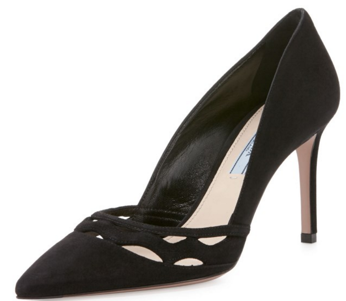 Prada Way-Cut Suede Pump