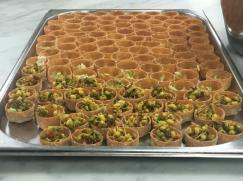 Tandoori Prawn préparés dans les cuisines de BP