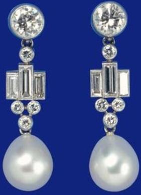 The Queen's Bahrain Pearl Drop Earrings