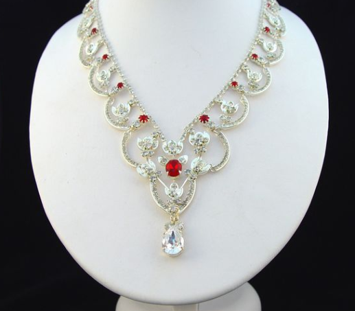 King George VI and Queen Elisabeth Bandeau ruby and diamond necklace