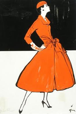 René Gruau illustrateur attitré de Dior