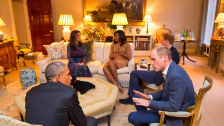 Les Cambridge reçoivent le couple Obama