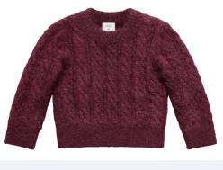 Le pull burgundy 79,99€