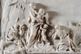 Jean Michael Rysbrack, Charity, (detail), 1745