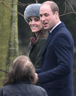 Toque grise vue sur Kate en janvier 2017. Photo Mega