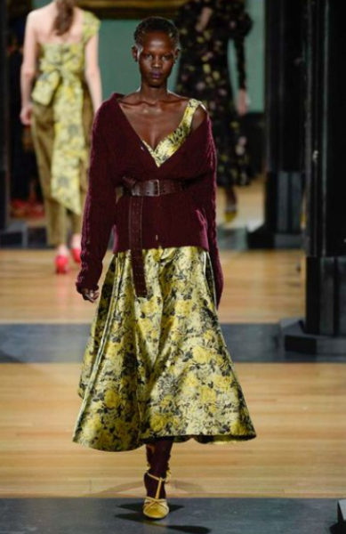 erdem-satin-dress-london-fashion-week-winter