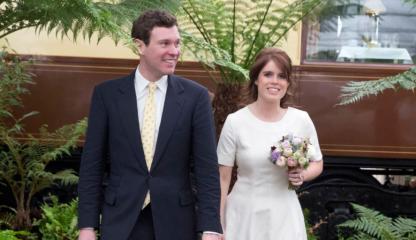 12 octobre. Mariage de la princesse Eugénie d'York célébré ne la chapelle royale St George (Windsor)