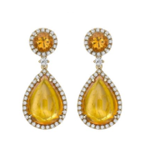 Kiki McDonough Luna Mandarin Garnet Earrings