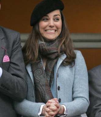 Kate Middleton en Harris tweed à Chetelham en 2007