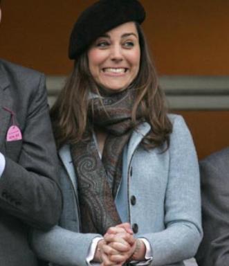 Kate Middleton en Harris tweed à Chetelham en 2007