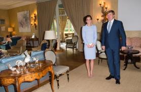 11 octobre 2016, le roi Willem-Alexander reçoit la duchesse