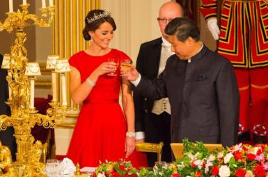 21 octobre 2015 toast avec Xi Jinping