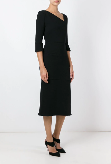Roland Mouret Asymmetric Neck Dress